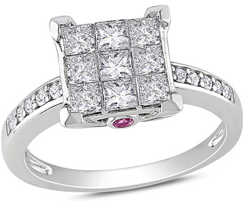 Size-9 G-H,I2-I3 1//10 cttw, Diamond Wedding Band in 10K Pink Gold