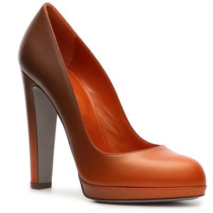 Sergio Rossi Ombre Pump - Orange - Women's Platform Pumps | Platformebi | პლატფორმები