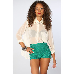 One Rad Girl The Annabelle Short in Emerald - shorts | shortebi | შორტები