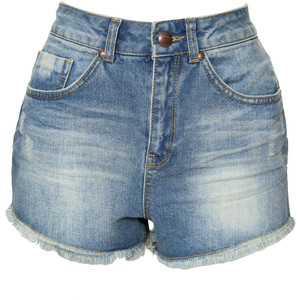Miso High Waisted Denim Shorts - shorts | shortebi | შორტები