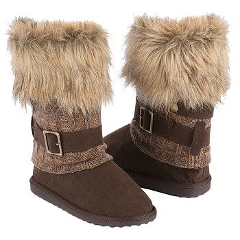 Muk Luks  Women's Gaby Knit Boot   Camel - Women's Boots