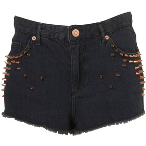 Studded High Waist Hotpants - shorts | shortebi | შორტები