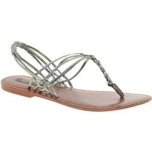 Park Lane Leather Thong Strappy Sandal - Women's Flat Sandals | Sandalebi | სანდალები