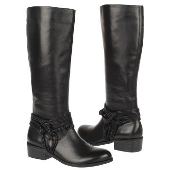 CARLOS BY CARLOS SANTANA  Women's Wellington   Black Leather - Women's Boots