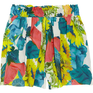 Alice + Olivia Sunflower-print silk-blend shorts - shorts | shortebi | შორტები