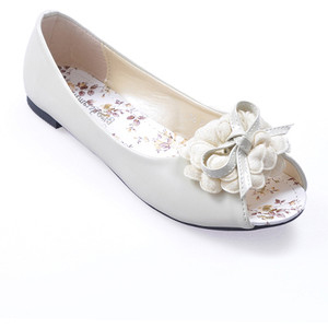 Shoes: White Flat Wedding Shoes, flat white wedding shoes, flat