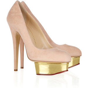 Charlotte Olympia Dolly suede platform pumps - Women's Platform Pumps | Platformebi | პლატფორმები