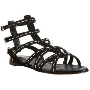 fdf73927c Women s Flat Sandals - Christian Dior Black Suede Stitched  antica  Flat