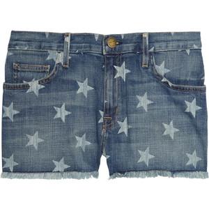 e2bac10591c Current/Elliott The Boyfriend star-print low-rise stretch-denim shorts