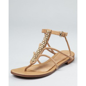 Boutique 9 Flat Sandals - Phebe Embellished Strappy - Women's Flat Sandals | Sandalebi | სანდალები