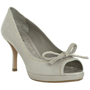 Prada Pale Grey  - Women's Platform Pumps | Platformebi | პლატფორმები