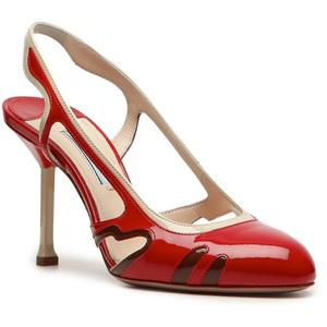 Prada Cut-Out Pump  - Women's Platform Pumps | Platformebi | პლატფორმები
