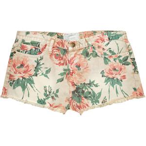 Shorts - Current/Elliott Boyfriend Denim Floral Shorts