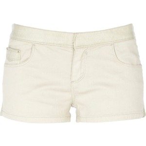 River Island Cream Pu Mix Shorts - shorts | shortebi | შორტები