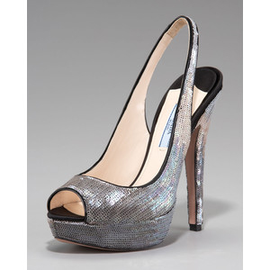 Prada Exclusive Sequin Degrade  - Women's Platform Pumps | Platformebi | პლატფორმები