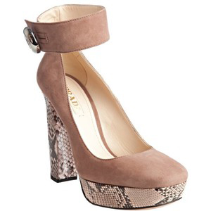 Prada Dark Rose  - Women's Platform Pumps | Platformebi | პლატფორმები