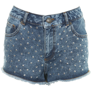 High Waist Star Studded Short - shorts | shortebi | შორტები