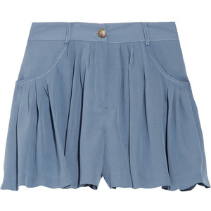 Thakoon Addition Pleated crepe-georgette shorts - shorts | shortebi | შორტები