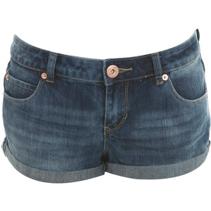 Mid Wash Denim Shorts - shorts | shortebi | შორტები
