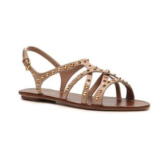 Women\u0026#39;s Flat Sandals - Prada Studded Flat Sandal - Taupe