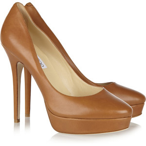 Jimmy Choo Cosmic leather pumps - Women's Platform Pumps | Platformebi | პლატფორმები