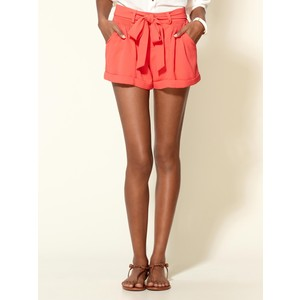 MM Couture Pop Tie Casual Shorts - shorts | shortebi | შორტები