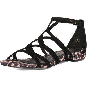 Excellent INC Gali Flat Sandals In Black For Women  Ctmshoes
