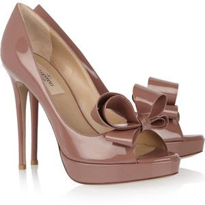 643412bbe0019 Women's Platform Pumps - Valentino Patent-leather bow pumps