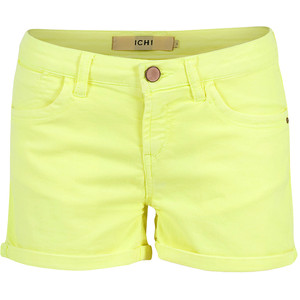 ICHI Shorts Hysa Neon Yellow - shorts | shortebi | შორტები
