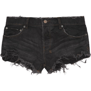 black denim shorts low rise