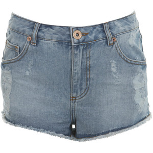 Light Wash High Waist Short - shorts | shortebi | შორტები