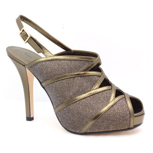 Kate Spade Rachel Bronze Leather - Women's Platform Pumps | Platformebi | პლატფორმები