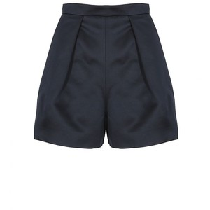 Carven Midnight Blue Structured High-Waisted Shorts - shorts | shortebi | შორტები