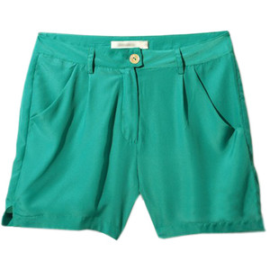 Casual Style All-match Green Shorts - shorts | shortebi | შორტები