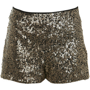 Gold Sequin Shorts - shorts | shortebi | შორტები