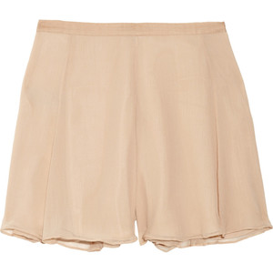 Elizabeth and James Katia flared silk-chiffon shorts - shorts | shortebi | შორტები