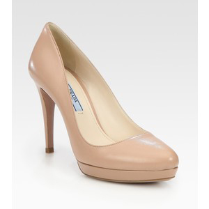 Prada Leather Platform Pumps - Women's Platform Pumps | Platformebi | პლატფორმები