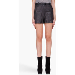 3.1 PHILLIP LIM Black Leather Shorts - shorts | shortebi | შორტები