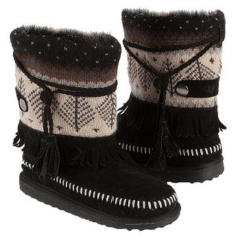 Muk Luks  Women's Ricki Short Boot   Ebony - Women's Boots