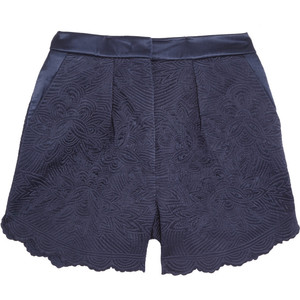Stella McCartney Quilted silk-satin shorts - shorts | shortebi | შორტები