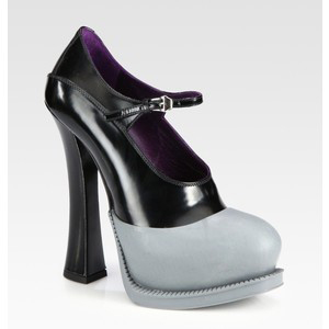 Prada Bicolor Leather  - Women's Platform Pumps | Platformebi | პლატფორმები