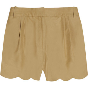 J.Crew Scalloped cotton and silk-blend shorts - shorts | shortebi | შორტები