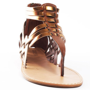 Guess Shoes Succeed 3 - Bronze Multi - Women's Flat Sandals | Sandalebi | სანდალები