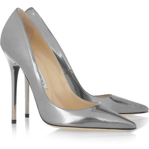 Jimmy Choo Anouk metallic leather pumps - Women's Platform Pumps | Platformebi | პლატფორმები