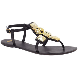 Asos Flint Large Jewel Sandal - Women's Flat Sandals | Sandalebi | სანდალები