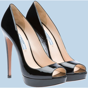 Prada Open-Toe - Women's Platform Pumps | Platformebi | პლატფორმები
