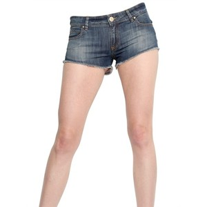 Fè-Sonho Segredo Bahia Boa Vista Denim Stretch Mini Shorts - shorts | shortebi | შორტები