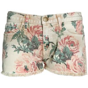 329fcbcaf95bf Shorts - Current Elliott Multi flower printed denim shorts
