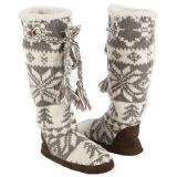 Muk Luks  Women's Grace Slipper Boot   Grey/Ivory - Womens Boots