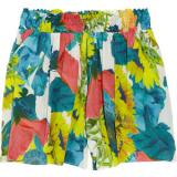 Alice + Olivia Sunflower-print silk-blend shorts - shorts | შორტები | shortebi